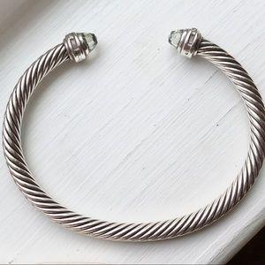 {David Yurman} Prasiolite 5mm Diamond Bracelet